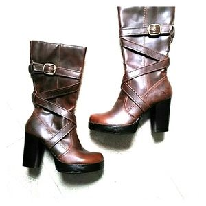 Skechers Brown Platform  Boots